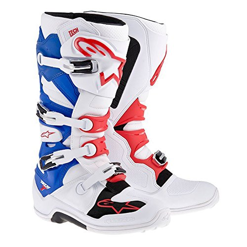 Alpinestars Tech 7 Motorcycle Boots - White Blue Red