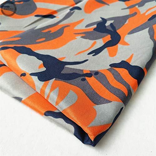 FidgetGear Camouflage Militär Armee Bedruckte Drucke Camo Stoff Baumwolle wie Kleidungsmaterial, Orange, Half Meter (20