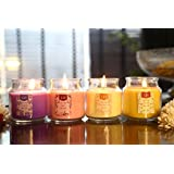 Scented Candles Set Of 4 In Breathtaking Range Of Aromas | Vanilla Caramel, Midnight Jasmine, English Rose & Lavender Fields | Candles For Bedroom | Candles For Love | Candles For Decoration