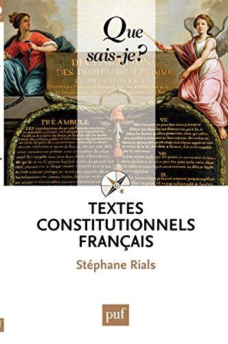 Lire un Textes constitutionnels français: « Que sais-je ? » n° 2022 epub pdf