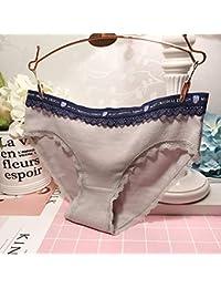 WXNLEAI Ropa interior gris japonesa del cordón de la seda del hielo sentido femenino tentación transparente