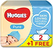 Huggies Pure, 168 Wet Wipes