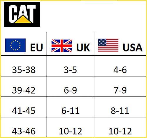 CAT Caterpillar Herren Universal Arbeitssocken, 3|6|9|12 Paar wahlweise, in Schwarz, Blau, Grau und 41-45 | 46-50, Socken (41-45, 12 Paar Schwarz)