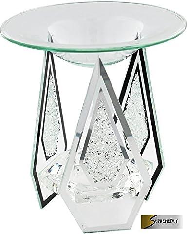 Diamond Shaped Glass Candle Tart/Oil Burner Tea Light Candle