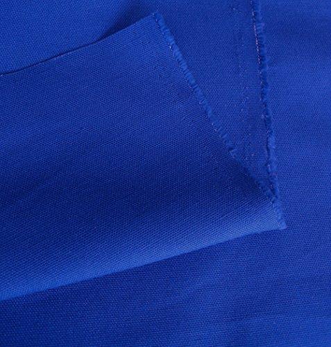 TOLKO Baumwollstoff Segeltuch mittelschwer - Polsterstoff/Möbelstoff als Meterware am Stück (Royal-Blau) -