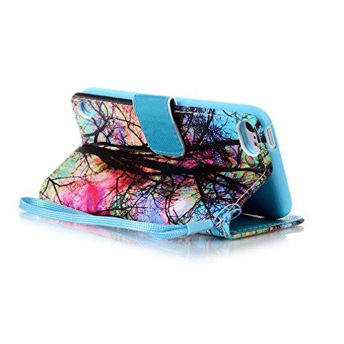 A9H iPhone SE / 5s / 5 Wallet Tasche Hülle - Ledertasche im Bookstyle in Braun - [Ultra Slim][Card Slot][Handyhülle] Flip Wallet Case Etui für iPhone SE / 5s / 5 -03A 12A
