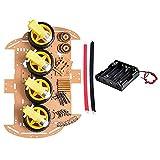 Vococal -4WD Smart Car Intelligent Robot Car Chassis Kit con Encoder di Velocità per Arduino DIY Kit