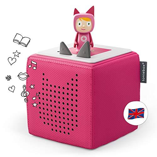 Tonies Starterset: Toniebox Pink + 1 Creative Tonie - Story-Player und Musik-Player für Kinder - Bestes Spielzeug für Jungen und Mädchen im Alter von 3-7 Jahren