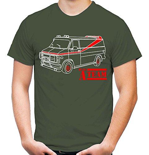 A-Team Männer und Herren T-Shirt | Spruch Hannibal B. A. Geschenk M2 (M, Olive)