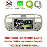 2din GPS Android 8, OctaCore, 64 bits, 2GB RAM, 32GB ROM.