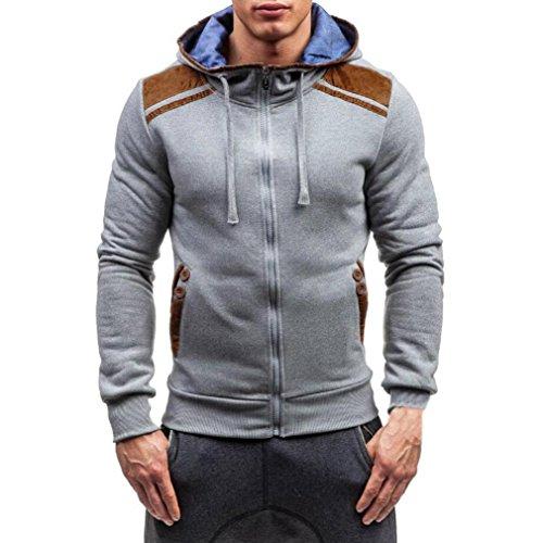 Bekleidung Männer Rollkragenpullover Hirolan Männer Mit Kapuze Pullover Sweatshirt Lang Hülse...