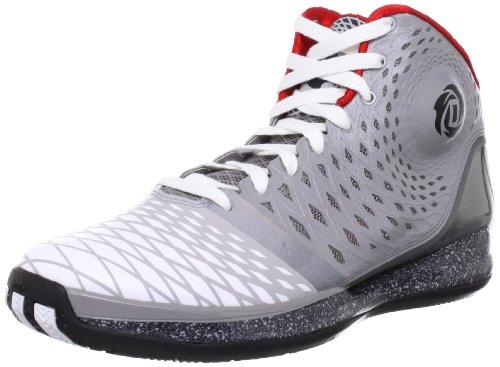 Adidas D Rose 3.5 alumi2/runwht/black2 Gr. 41 1/3 (Rose 3.5-basketball-schuhe)