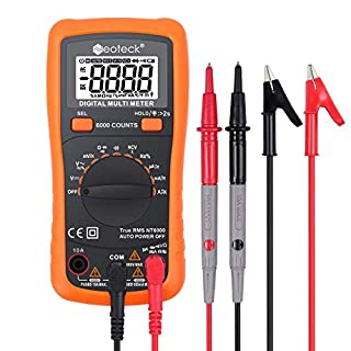 Neoteck 6000 Counts Auto Ranging AC/DC Digital Multimeters with NCV True RMS Voltage Current Resistance Temperature Capacitance Multi Testers for School Laboratory Factory and other Social Fields
