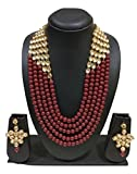 #8: Exclusive collection Kundan Faux Pearl 5 Layer Rani Haar Style Necklace for women and girls