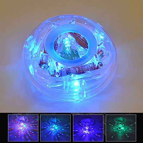 Solmore Underwater DJ Disco à LED RGB pour bassin piscine Spa Hot Tub Baignoire Floating Lamp