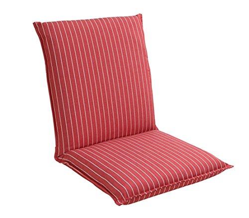 Dehner Amrum Coussin pour Chaise à Dossier Bas, env. 100 x 50 x 7 cm, Dralon, Rouge