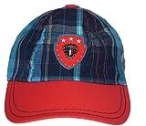 GD Boy's Peak Cap (Denim Blue and Red,2-...