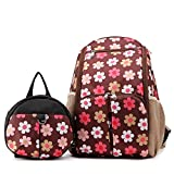 Babyhugs 3Ultra Light Wickeln Windel Rucksack Rucksack Tasche mit Kleinkind Sicherheitsgeschirr Rucksack–Braun Blumen