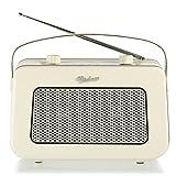 Vintage Style Quality DAB / FM Digital Radio Clock Radio Alarm Clock (Cream)
