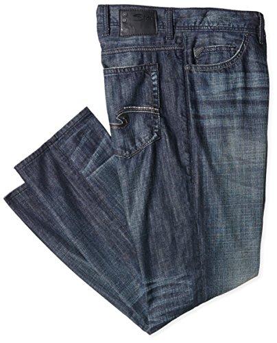 SILVER JEANS Herren Slim Jeans Allan Blau (Indigo LD323)