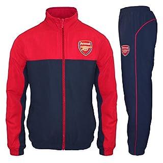 Arsenal FC - Herren Trainingsanzug - Jacke & Hose - Offizielles Merchandise - Geschenk für Fußballfans - Rot - L