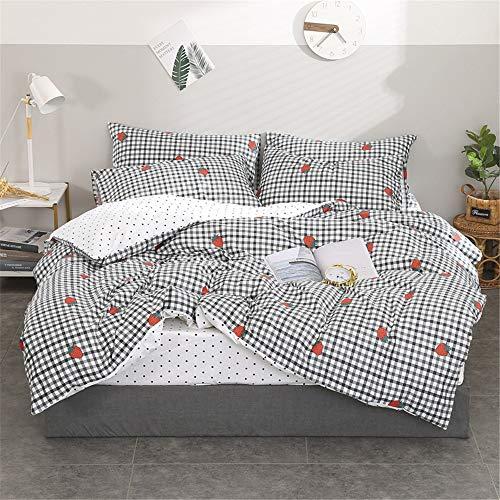 WENXIAOXU Weiche blätter Bett schoner Bezug mit Nässeschutz, Atmungsaktiv, Allergie und Anti Milben,Baumwolle vierteilig C-13 120 * 200 * 30cm