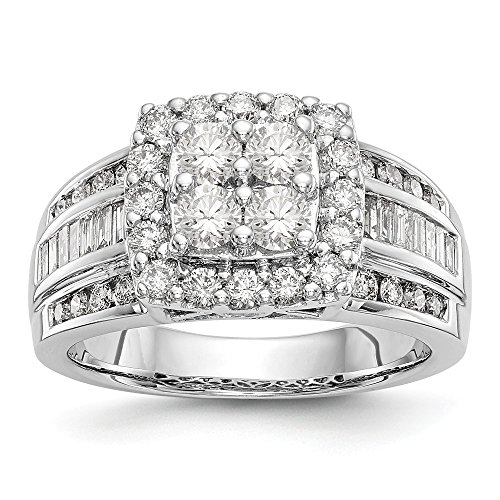 Ehering 14 Karat Weißgold Diamant Rundschliff H-SI2 (Herren-diamant-jubiläum-band)