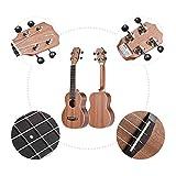 ammoon Ukulele Set 21 Zoll Akustischer Sopran Sapele Holz TOM TUS-200B mit Tragetasche Strap-Saiten Clip on Tuner Putztuch Zelluloid-Picks
