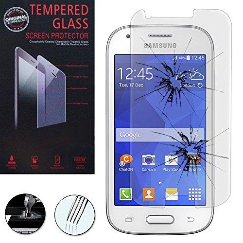 Schutzhülle Schutzhülle Halterung Video Buch Flip PU-Leder Effekt Stoff für Samsung Galaxy Ace 4Style LTE SM-G357FZ