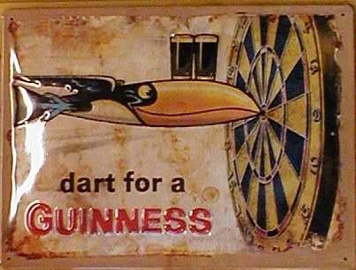 Blechschild Nostalgieschild - 20 x 30 cm schwere Qualität: Guinness Dart for a