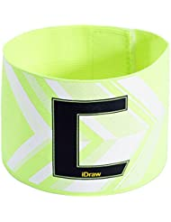 Bluelover Football Fans Flexible capitaine Soccer brassard reglable C impression Armband-vert