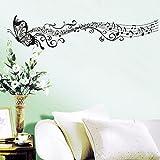 Rainbow Fox? Adesivi Bella Musica farfalla rimovibile adesivi murali per la casa Per Soggiorno Camera da letto, nero