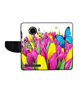 KolorEdge Printed Flip Cover For Micromax Yu YuPhoria Multicolor - (1478-50KeMLogo12013MmxYuPhoria)