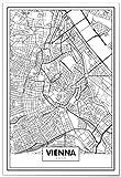 Panorama® Poster Karte von Wien 21 x 30 cm | Gedruckt auf