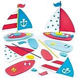 Bastelsets für 3D Segelboot für Kinder zum Selberbauen und Aufstellen - die perfekte Geschenkidee (2 Stück)