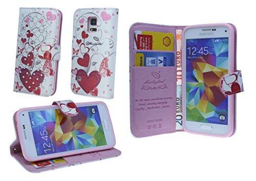 Sony Xperia M2/ M2 Aqua Book-Style Handyhülle Schale Schutzhülle Tasche Zubehör mit Strass Steinen MOTIV 3