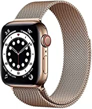 Compatible with Apple Watch Bands 42mm 44mm, Adjustable Stainless Steel Metal Mesh Loop Bracelet Wristbands St