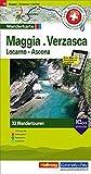 Maggia, Verzasca, Locarno-Ascona Tourenwanderkarte: Nr. 18, 33 Wandertouren, 1:50 000, mit kostenlosem Download für Smartphone Karten, Tourenführer, ... Autobus (Hallwag Touren-Wanderkarten)