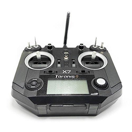 Kingduo grip antiscivolo corteccia & piede pad rosso nero per frsky taranis q x7/x7s rc drone trasmettitore-nero