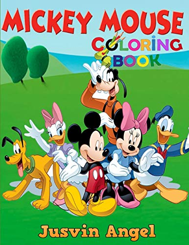 Mickey Mouse Coloring Book: For Kids Ages 4-8