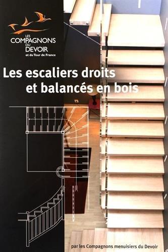 Les escaliers droits et balancés en bois