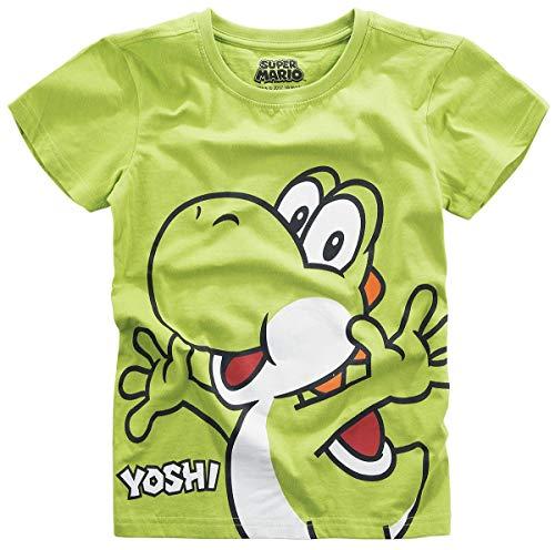 Camiseta Super Mario Kids Yoshi Nintendo Cotton Green - 110/116