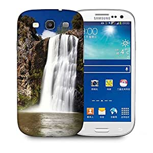 Snoogg White Waterfall Printed Protective Phone Back Case Cover For Samsung S3 / S III