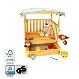 Coemo Spielhaus mit Sandkasten