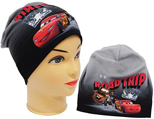 alles-meine.de GmbH Mütze / Jerseymütze -  Disney Cars - Lightning McQueen  - Größe 51 / 53 - Circa 5 bis 8 Jahre - Beanie - UV Protection - universal - für Jungen - Kinder - M..