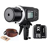 Godox AD600BM Bowens Mount With X1T-S Transmitter 600Ws GN87 High Speed Sync Outdoor Flash Strobe Light With 2.4G Wireless X System, 8700mAh Battery To Provide 500 Full Power Flashes (AD600BM+X1T-S)