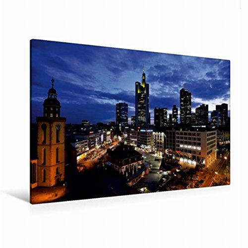 Calvendo Premium Textil-Leinwand 120 cm x 80 cm quer Frankfurt Hauptwache | Wandbild, Bild auf Keilrahmen, Fertigbild auf echter Leinwand, Leinwanddruck