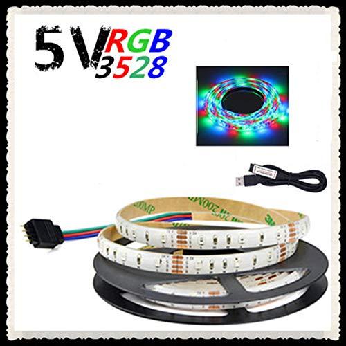 SEXTT LED-Licht-Streifen, IP65 imprägniern LED-Licht-17 Schlüssel-IR-Direktübertragung USB 5V LED-Streifen-Licht,60lights