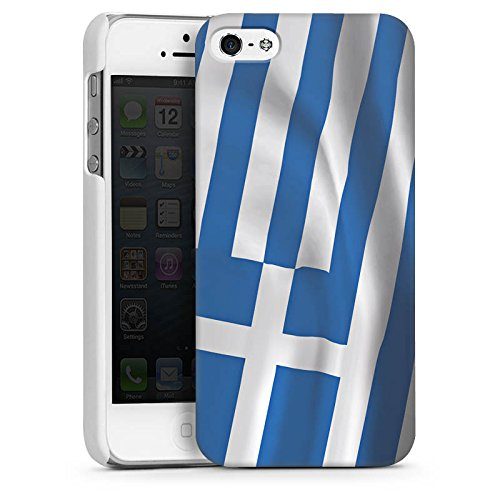 Apple iPhone 5s Housse étui coque protection Grèce Drapeau Grèce CasDur blanc