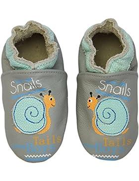 Ju Ju Be Rose & Chocolat Rcc Smiling Snail Grey, Baby Jungen Krabbelschuhe, Grau (Smiling Snail Grey), 18/19 EU